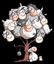 T-Shirt drôles de montons dans un arbre<br />imprimer sur un tee shirt
