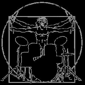da Vinci Schlagzeug Linien auf dein T-Shirt