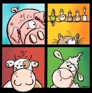 T-Shirt drôles  d animaux de ferme<br />imprimer sur un tee shirt