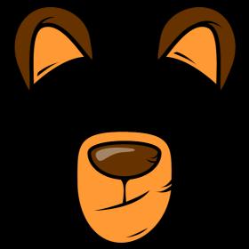Bärenschnautze mit Ohren auf dein T-Shirt