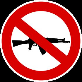 Waffenverbot Schild auf dein T-Shirt
