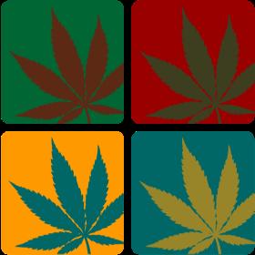 Cannabisblatt Warhol auf dein T-Shirt