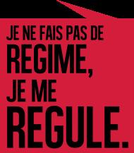 T-Shirt Je ne fais pas de regime je me regule<br />imprimer sur un tee shirt