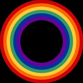 Regenbogenkreis auf dein T-Shirt
