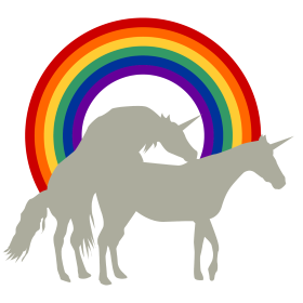 Einhorne unterm Regenbogen auf dein T-Shirt