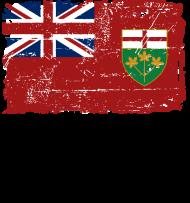 T-Shirt drapeau Ontario Canada Vintage<br />imprimer sur un tee shirt