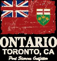 T-Shirt Ontario Flag Canada<br />imprimer sur un tee shirt
