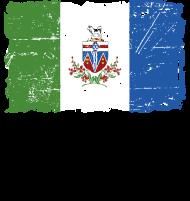 T-Shirt Yukon Flag - Canada - Vintage Look<br />imprimer sur un tee shirt