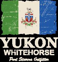 T-Shirt drapeau Yukon Flag Canada Vintage Look<br />imprimer sur un tee shirt