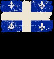T-Shirt Drapeau Québec Flag Canada<br />imprimer sur un tee shirt