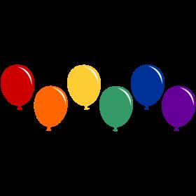 Regenbogen Luftballons auf dein T-Shirt