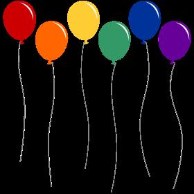 Regenbogen Luftballons an Leine auf dein T-Shirt