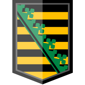 Sachsen Wappen E-Style auf dein T-Shirt