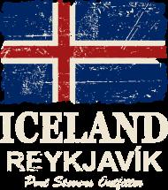 T-Shirt Iceland Vintage Flag<br />imprimer sur un tee shirt