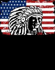 T-Shirt USA Flag Indian Chief Vintage Look<br />imprimer sur un tee shirt