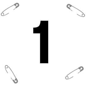 Startnummer 1 mit Sicherheitsnadel auf dein T-Shirt