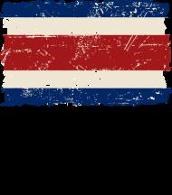 T-Shirt drapeau Costa Rica Vintage Look<br />imprimer sur un tee shirt