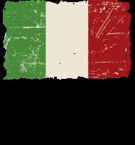 T-Shirt drapeau Italy Vintage Look<br />imprimer sur un tee shirt