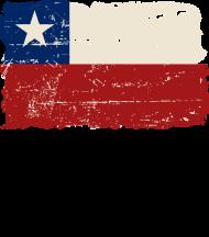 T-Shirt drapeau Chile Vintage Look<br />imprimer sur un tee shirt