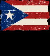 T-Shirt Puerto Rico Flag Vintage Look<br />imprimer sur un tee shirt