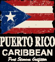 T-Shirt drapeau Puerto Rico  Vintage Look<br />imprimer sur un tee shirt