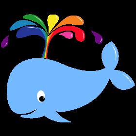 Regenbogenwal auf dein T-Shirt