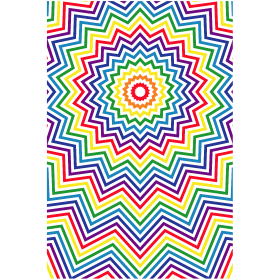 Regenbogen Sterne im Rechteck auf dein T-Shirt