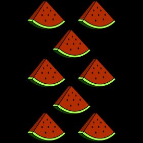 Melonenstücke auf dein T-Shirt