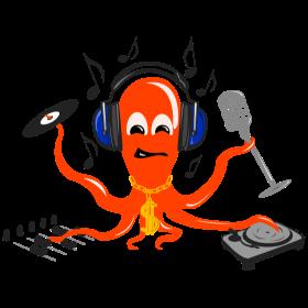 Musik Tintenfisch auf dein T-Shirt