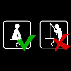 Toilettenregeln weiß auf dein T-Shirt