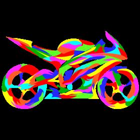 Motorradmosaik auf dein T-Shirt