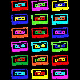 bunte Kassetten auf dein T-Shirt