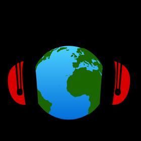 Erde hört Kopfhörer auf dein T-Shirt
