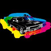 Muscle Car - Retro - CMYK
