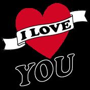 Motif Personnalisé I Love You 11