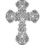 elegant celtic cross with fine details