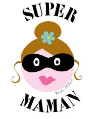 T-Shirt super maman<br />imprimer sur un tee shirt