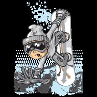 T-Shirt Jumping SnowBoarder<br />imprimer sur un tee shirt