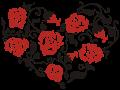Motif Coeur de roses