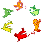 Fun Cartoon Birds Mandala/Wheel by Cheerful Madness!! online shop
