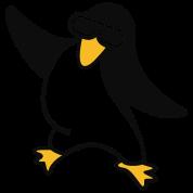 Disco Pinguin / penguin of the 80s (2c)