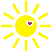 sun - sonne - weather - holiday -heart - herz