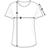 T-shirt vintage Homme mesures