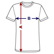 T-shirt polycoton Homme mesures