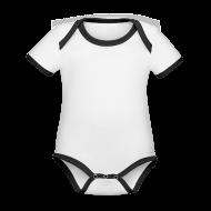 Body Bébé bio contrasté manches courtes