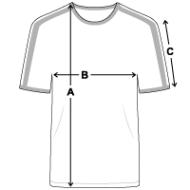 Tee shirt Retro Homme mesures