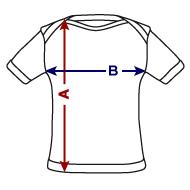 Tee shirt bio à manches courtes Bébé mesures