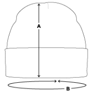 Bonnet d'hiver mesures