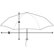 Parapluie standard mesures