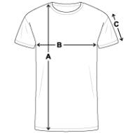 Tee shirt contraste Homme mesures